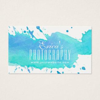 Photographe moderne de photographie d'aquarelle cartes de visite