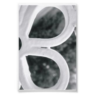 Photographie B4 4x6 noir et blanc de lettre d alph
