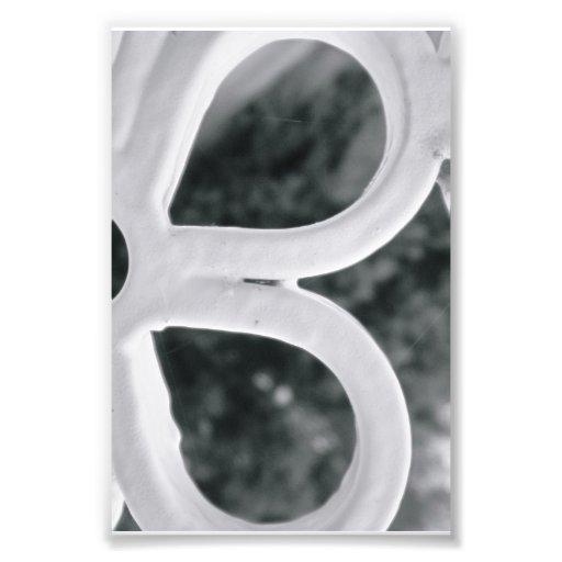 Photographie B4 4x6 noir et blanc de lettre d'alph