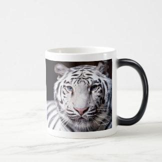 Photographie blanche de tigre de Bengale Mug Magic