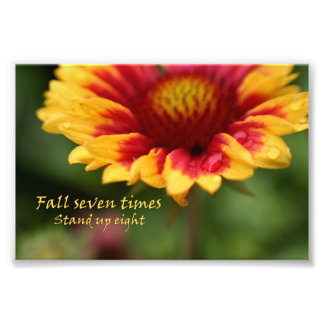 Photographie colorée de fleur de citation inspirée