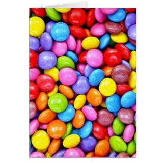 Photographie colorée de sucreries cartes