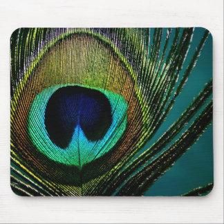 Photographie colorée Mousepad de plume de paon Tapis De Souris