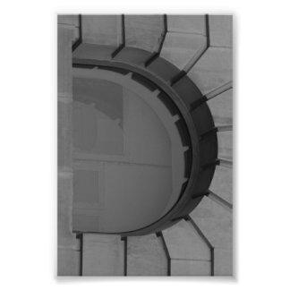 Photographie D7 4x6 noir et blanc de lettre d'alph