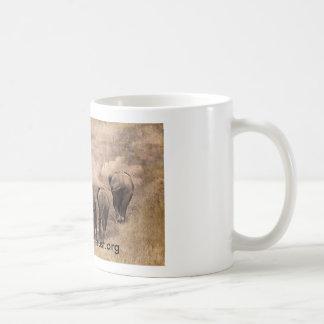 Photographie d'art de famille d'éléphant mug