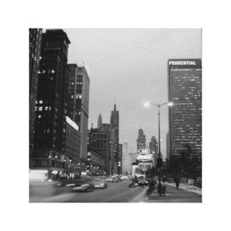 Photographie de la nuit 1967 d'avenue de Chicago Toile
