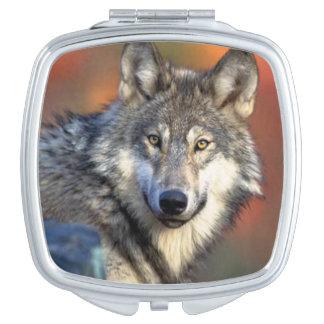 Photographie de loup miroir de maquillage