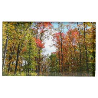 Photographie de nature d'automne d'arbres de chute porte-cartes de placement