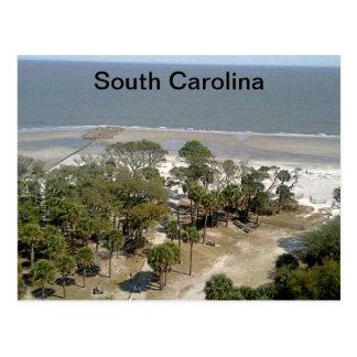 Photographie de plage de la Caroline du Sud Cartes Postales