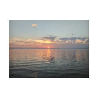 Photographie de toile de coucher du soleil