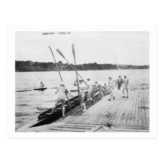 Photographie d'équipe d'équipage d'aviron carte postale