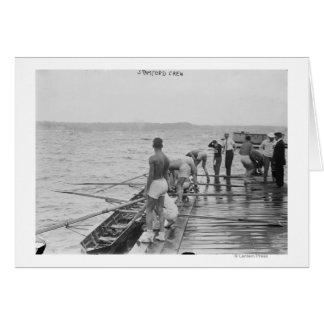 Photographie d'équipe d'équipage d'aviron de carte de vœux