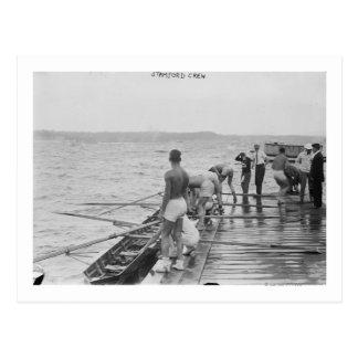 Photographie d'équipe d'équipage d'aviron de carte postale