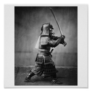 Photographie d'un samouraï C. 1860 Affiches