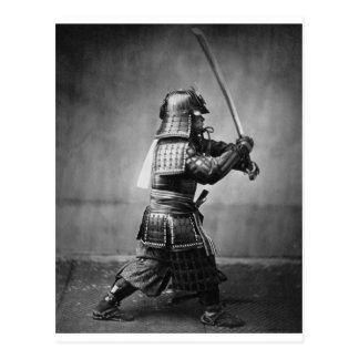 Photographie d'un samouraï C. 1860 Cartes Postales