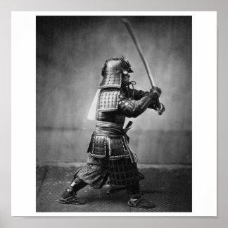 Photographie d'un samouraï C. 1860 Poster