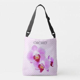 Photographie florale et points d'orchidée pourpre sac