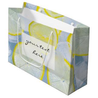 photographie fraîche de boissons de soude de glace grand sac cadeau