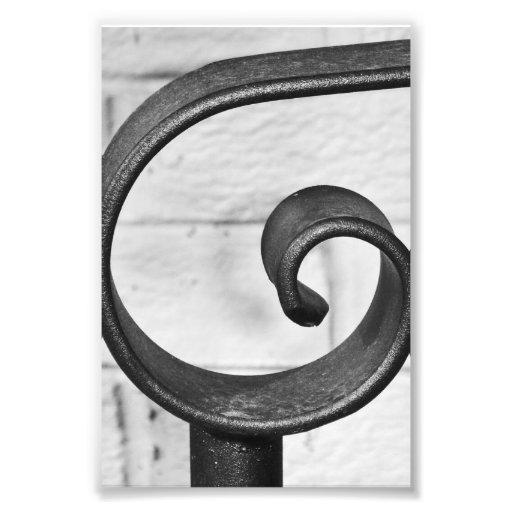 Photographie G9 4x6 noir et blanc de lettre d'alph