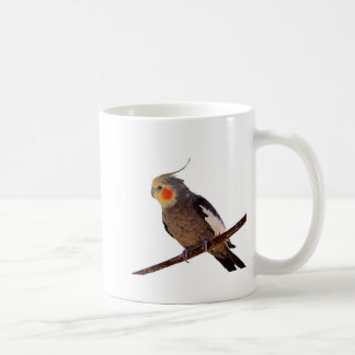 Photographie grise et jaune de Cockatiel d'animal Mug