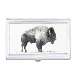 Photographie historique de bison américain étui pour cartes de visite