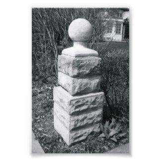 Photographie I8 4x6 noir et blanc de lettre d alph
