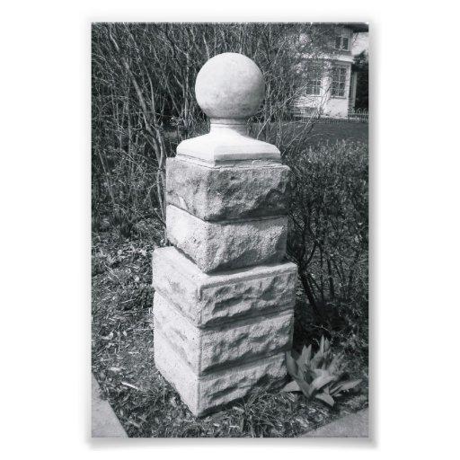 Photographie I8 4x6 noir et blanc de lettre d'alph
