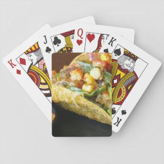 photographie mexicaine délicieuse de tacos jeu de cartes
