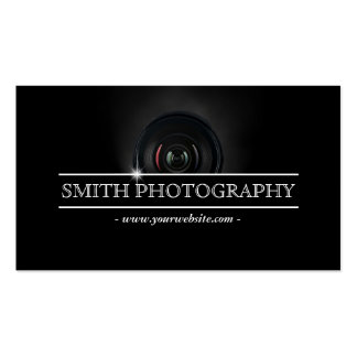 Photographie moderne d'objectif de caméra de carte de visite standard
