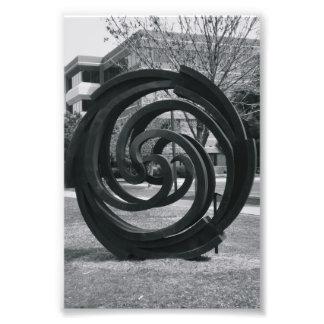 Photographie O7 4x6 noir et blanc de lettre d'alph