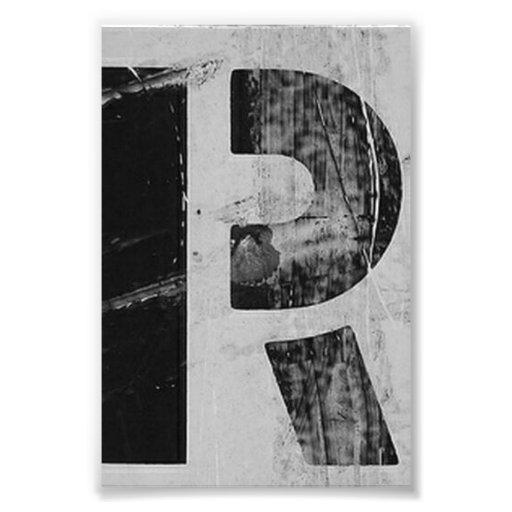 Photographie R2 4x6 noir et blanc de lettre d'alph