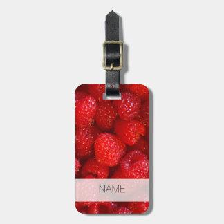 Photographie rose foncée mignonne délicieuse de étiquette à bagage