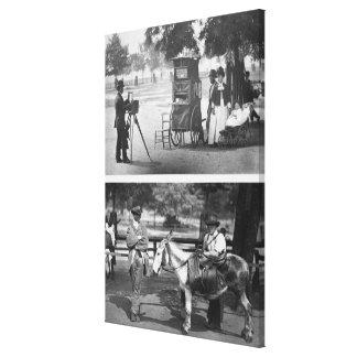 Photographie sur le terrain communal et la locatio toiles