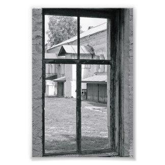 Photographie T7 4x6 noir et blanc de lettre d'alph