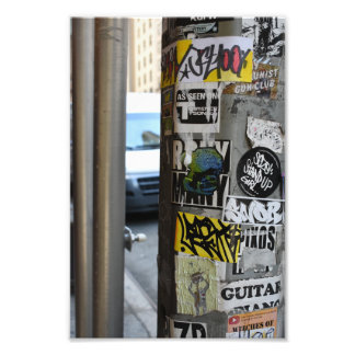 Photographie urbaine d'art de rue de graffiti de