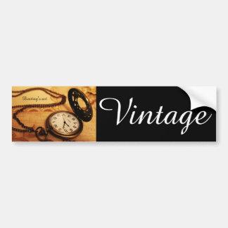 Photographie vintage de montre de poche autocollant de voiture