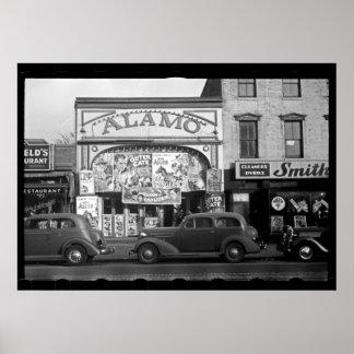 Photographie vintage de salle de cinéma posters