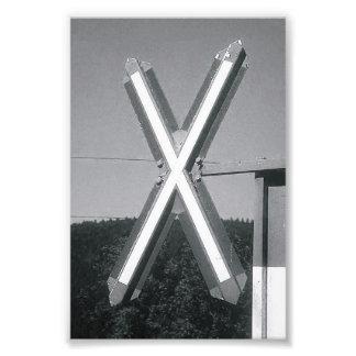 Photographie X3 4x6 noir et blanc de lettre d'alph