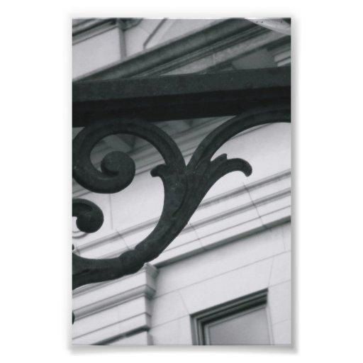 Photographie Y2 4x6 noir et blanc de lettre d'alph
