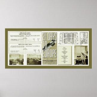 Photos de cru de brochure de Hindenburg Posters