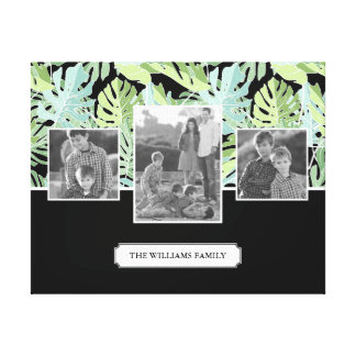 Photos et texte de famille floraux du motif | de toile