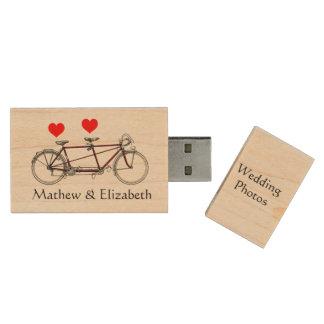 Photos faites sur commande de mariage de clé USB 2.0 en bois
