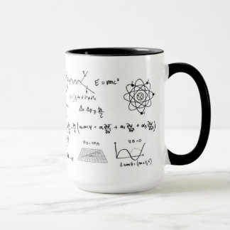 Physics tu formules and diagrams Coffe Mug