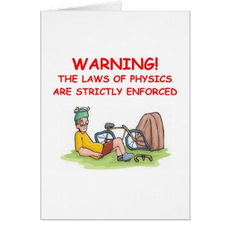 physique carte de vœux