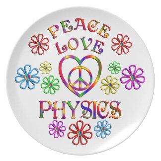 Physique d'amour de paix assiettes en mélamine