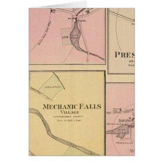 Pi Fairfield, île de Presque, carte de caribou