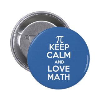 Pi gardent le calme et les maths d'amour badge