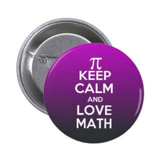 Pi gardent le calme et les maths d'amour pin's