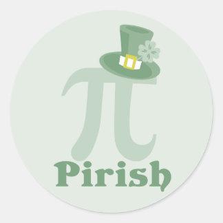 """Pi-rish"" Autocollant Rond"