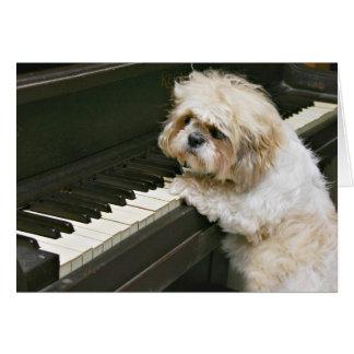 pianiste carte de vœux